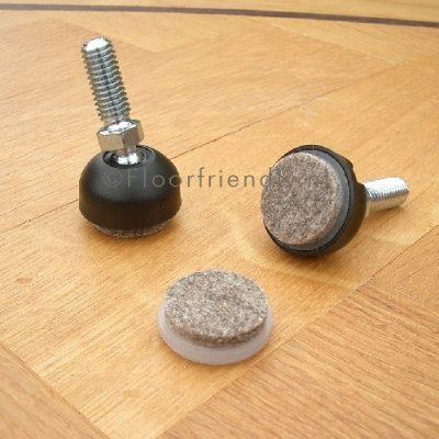 Stoeldop met schroefdraad, verstelbaar, vilt vervangbaar - Floorfriendly.nl