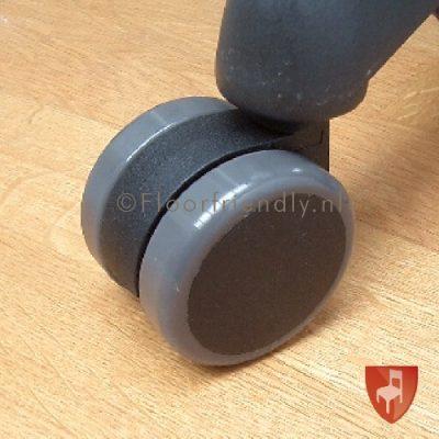 Zachte zwenkwielen 60mm voor bureaustoelen - Floorfriendly.nl