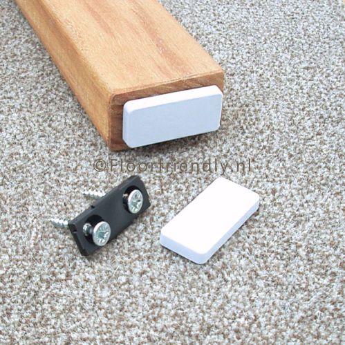 Teflonglijder rechthoekig voor op tapijt - Floorfriendly.nl