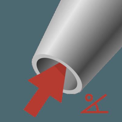 Schuine stoelpoot taps toelopend
